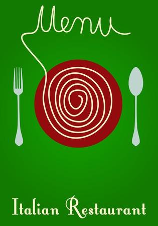 facture restaurant: Menu Restaurant italien, copie espace libre