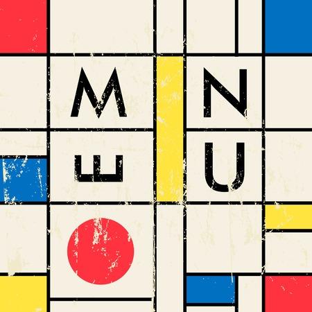 mondrian: modern art inspired restaurant menu