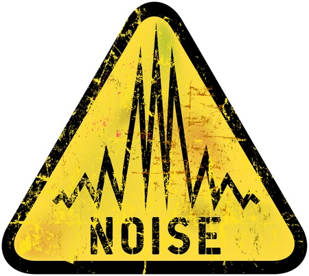 ノイズの警告のサイン、グランジ スタイル、ベクトル イラスト  イラスト・ベクター素材