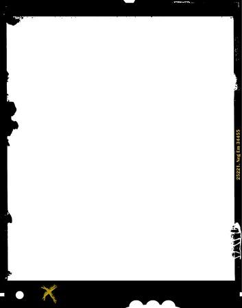 hoja grande película de formato, 4 x 5 pulgadas, marco de fotos negativa, con espacio libre copia, aislado sobre fondo blanco