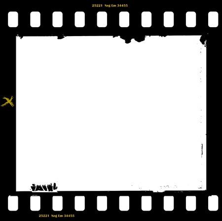 フィルムの無料コピー スペース、ベクトル イラスト付きの汚れたフォト フレームのフレーム