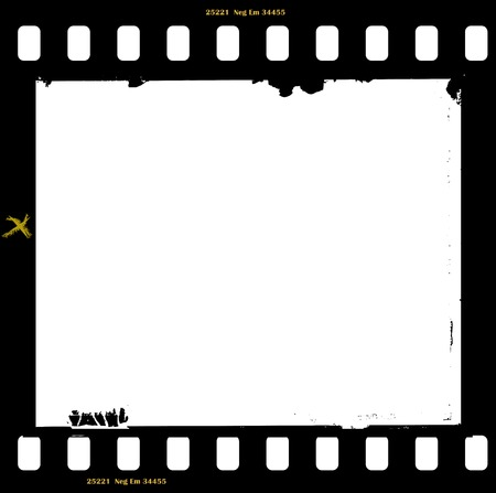 frame of film, grungy photo frame, with free copy space, vector illustration