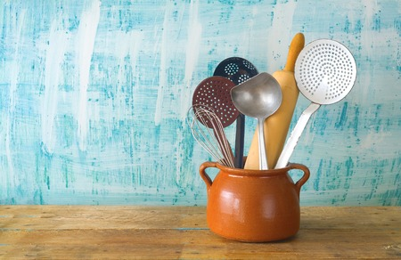 kitchen utensils, free copy space, cooking concept