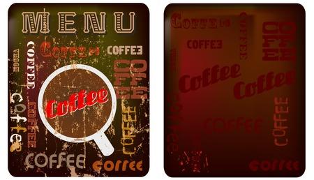 cappucino: koffieshop menu template, vrije ruimte voor uw tekst Stock Illustratie