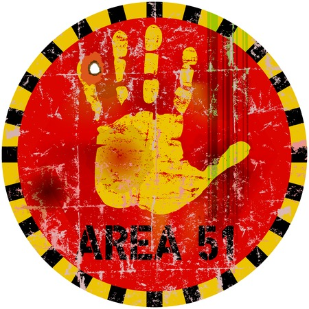 area 51: warning sign  area 51  , vector illustration
