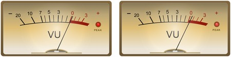 Analog VU Meter illustration Illustration