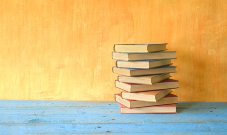 stack of books,free copy space Stock Photo