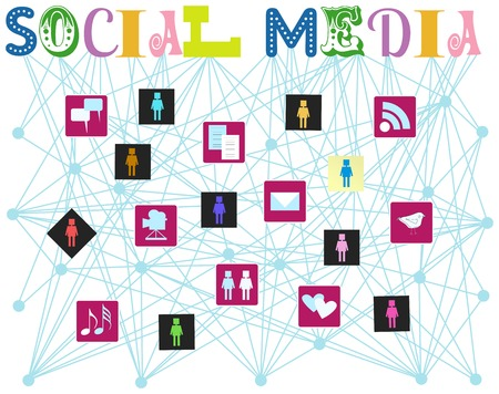 bookmarking: social media, vector illustration Illustration