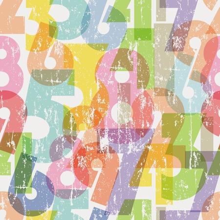 seamless pattern numbers, vector illustration