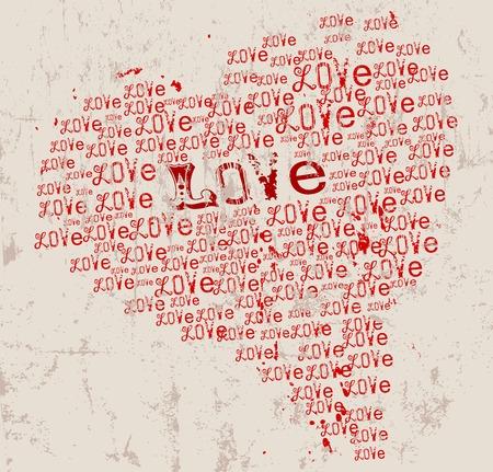 love pattern illustration, typography, vector illustration Vector