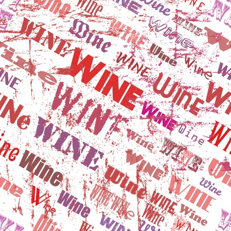 clustered: retro seamless pattern wine, tag cloud, vector illustration