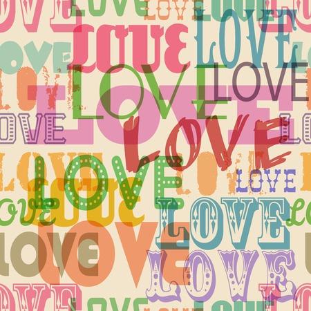 Love seamless pattern, vector illustration