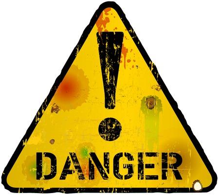 señal de peligro, señal de peligro, ilustración vectorial
