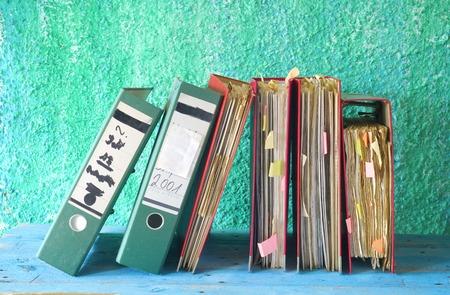 tabulate: row of file folders,free copy space