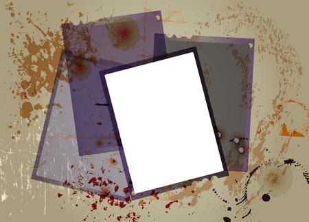 negatives: sheet film negatives, free copy space, grungy vector Illustration