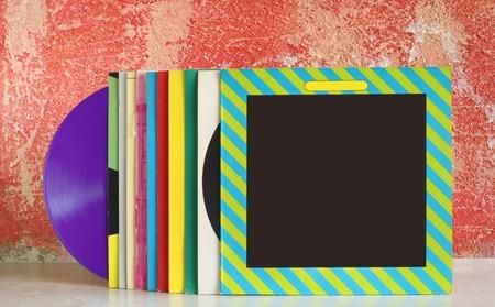 analogous: vinyl records, free copy space
