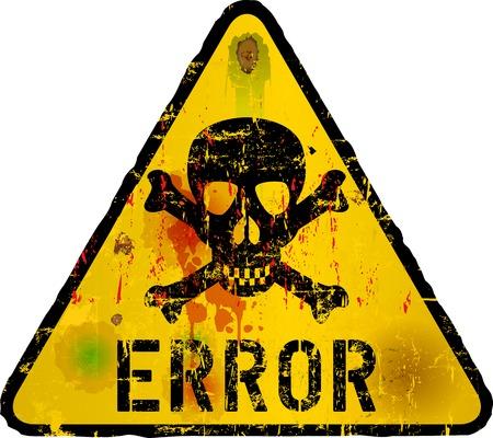 virus alert: computer error alert sign, vector illustration
