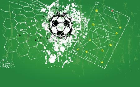 grungy soccer ball, vector illustration Vector
