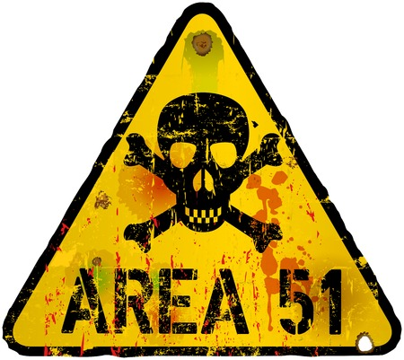 area 51 warning sign, vector