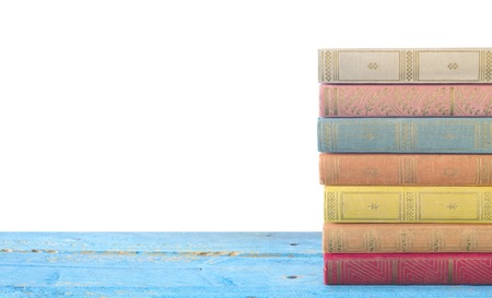 stack: stack of books isolated on white background