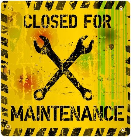 gunshot: Maintenance sign vector Illustration