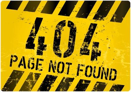 error message: 404 error sign for website, vector illustratiom