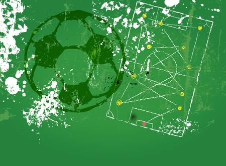 tactics: grungy soccer or football soccer tactics diagram copyspace vector