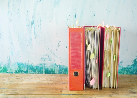 disorganization: messy file folders, free copy space