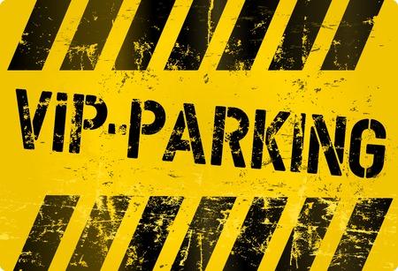 vip area: V.I.P. parking sign, vector