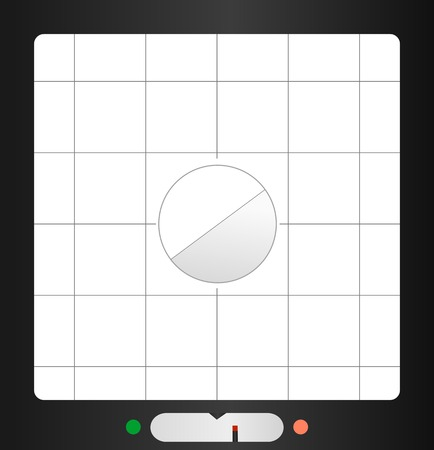 aperture grid: retro viewfinder, free copy space, fictional design, vector Illustration
