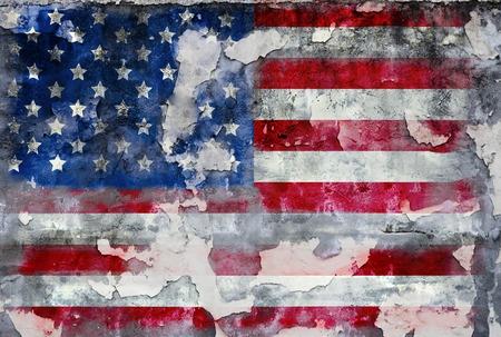 grungy american flag, fictional design
