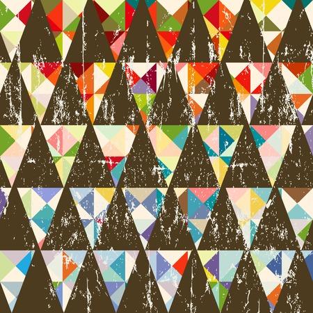 seamless pattern: Seamless geometric triangle vector pattern.