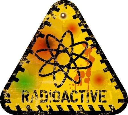hazardous area sign: Advertencia de radiaci�n, ilustraci�n vectorial Vectores