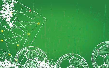 サッカー デザイン テンプレートで無料コピー スペース  イラスト・ベクター素材