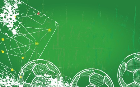 free copy space with football design template Illustration