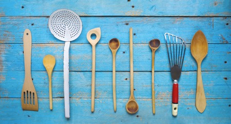 kitchen tools: rustic old kitchen utensils