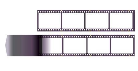 film strip, anaolg film, frems for your pix, vector illustration Ilustração