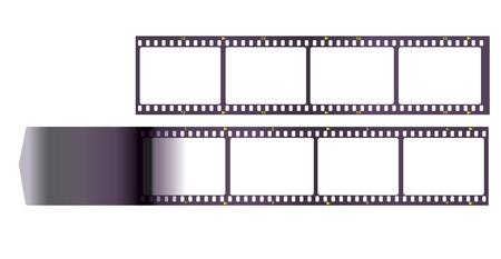 pix: film strip, anaolg film, frems for your pix, vector illustration Illustration