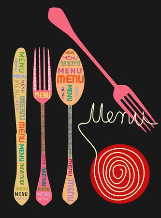 restaurant food: menu design template, free copy space