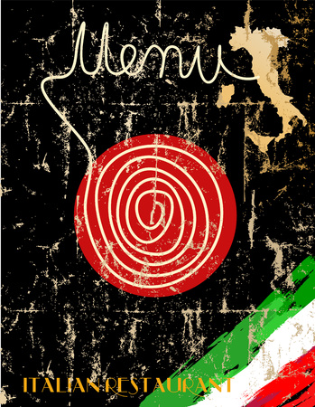 restaurante italiano: Men� para el restaurante italiano, obra de ficci�n, espacio de libre copia