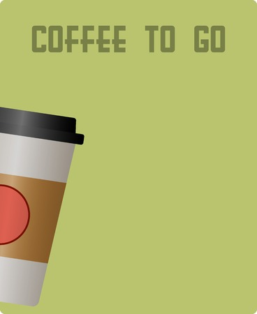 lath in modern: coffee to go, paper cup, design template, free copy space