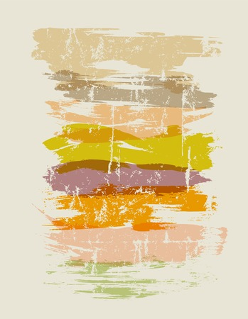 paint strokes: various paint strokes, design elements, vector illustration