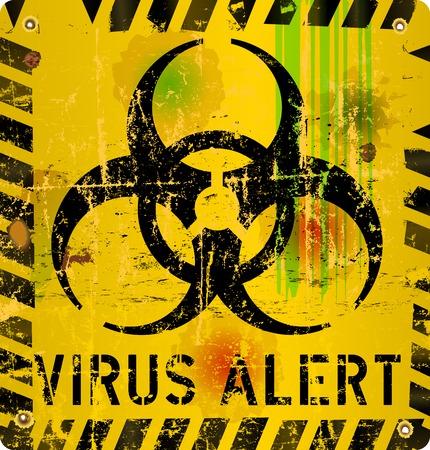virus informatico: virus inform�tico se�al de alerta, ilustraci�n vectorial Vectores