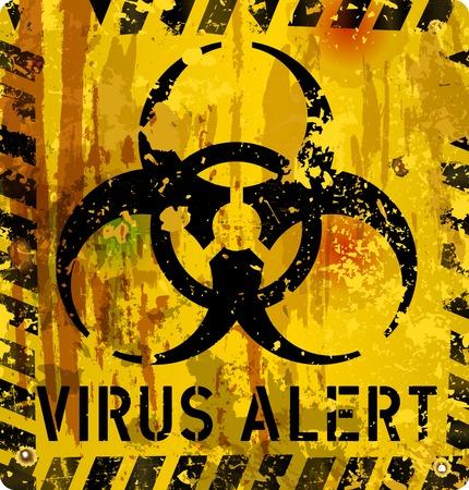 computer virus: virus inform�tico se�al de alerta, ilustraci�n vectorial Vectores