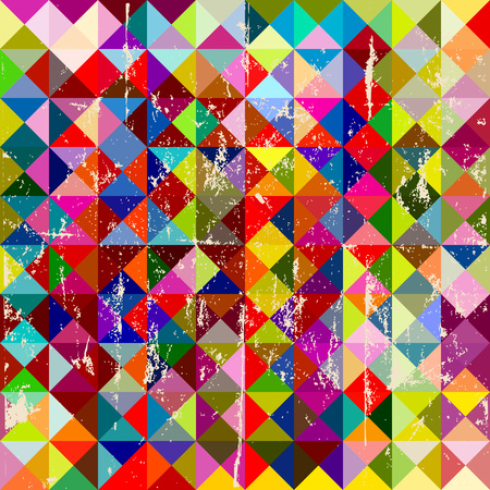 retro grunge: grungy hipster triangle background, vector, fictional artwork