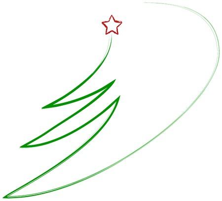 scrawl: Resumen árbol de Navidad, vector Vectores