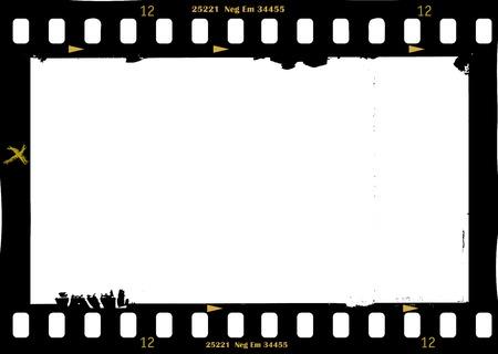 fotograma de la película, marco de fotos sucio, con copia espacio libre, ilustración vectorial