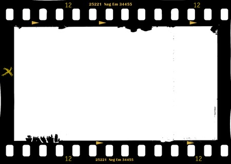 frame of film, grungy photo frame,with free copy space,vector illustration