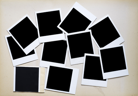 deckle: instant picture prints, photo frames, free space for your pics Stock Photo