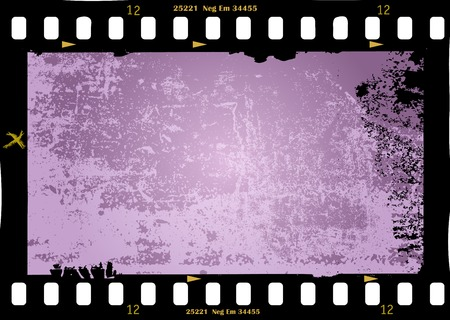 strip design: frame of film, grungy photo frame,with free copy space,vector illustration